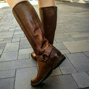 Frye Phillip Leather Harness Boots